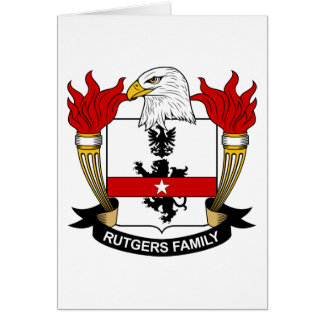 Escudo de la familia de Rutgers Felicitaciones
