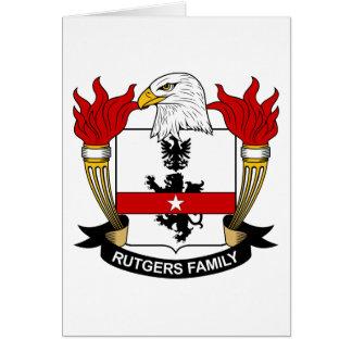 Escudo de la familia de Rutgers Tarjeta De Felicitación