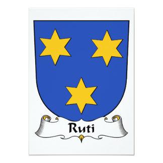 Escudo de la familia de Ruti Invitación 12,7 X 17,8 Cm