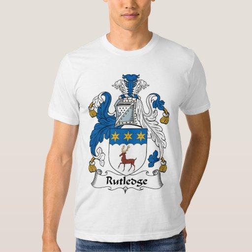 Escudo de la familia de Rutledge Playera