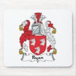 Escudo de la familia de Ryan Tapete De Ratón