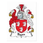 Escudo de la familia de Ryan Tarjeta Postal