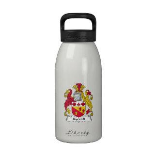 Escudo de la familia de Rycroft Botella De Agua Reutilizable