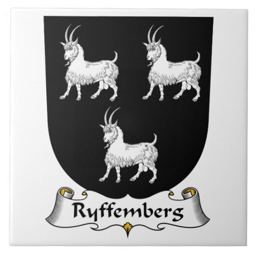 Escudo de la familia de Ryffemberg Azulejo Cuadrado Grande