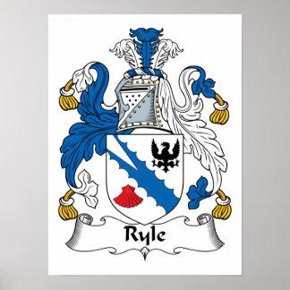 Escudo de la familia de Ryle Posters