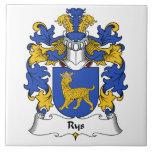 Escudo de la familia de Rys Azulejo Cerámica