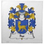 Escudo de la familia de Rys Servilleta