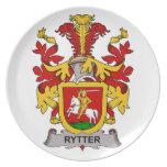 Escudo de la familia de Rytter Plato Para Fiesta