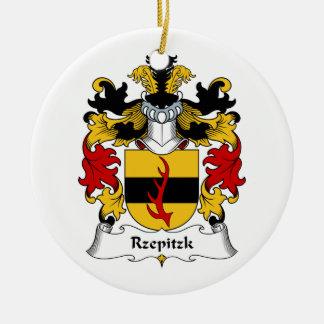 Escudo de la familia de Rzepitzk Adorno Redondo De Cerámica