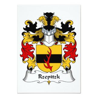 Escudo de la familia de Rzepitzk Invitación 12,7 X 17,8 Cm
