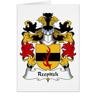 Escudo de la familia de Rzepitzk Tarjetón