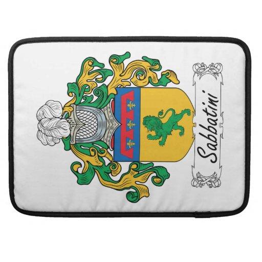 Escudo de la familia de Sabbatini Funda Para Macbooks