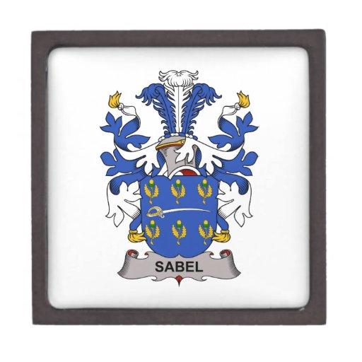Escudo de la familia de Sabel Cajas De Regalo De Calidad