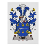 Escudo de la familia de Sabel Posters