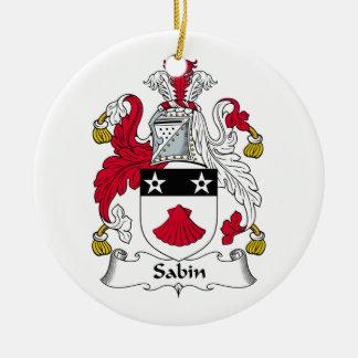 Escudo de la familia de Sabin Adorno Redondo De Cerámica