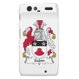 Escudo de la familia de Sabin Droid RAZR Fundas