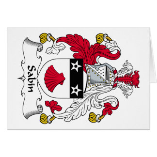 Escudo de la familia de Sabin Felicitación