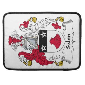 Escudo de la familia de Sabin Funda Para Macbooks