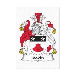 Escudo de la familia de Sabin Impresiones En Lienzo Estiradas