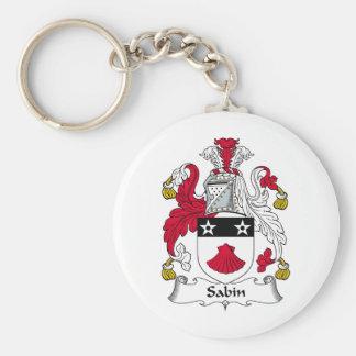 Escudo de la familia de Sabin Llavero Personalizado