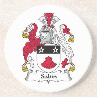 Escudo de la familia de Sabin Posavaso Para Bebida