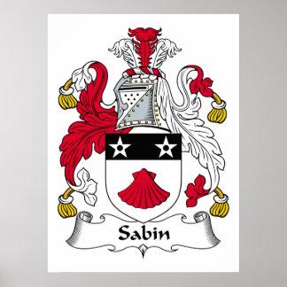 Escudo de la familia de Sabin Poster