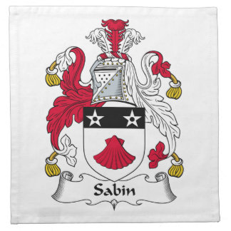 Escudo de la familia de Sabin Servilleta Imprimida