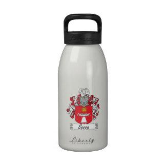 Escudo de la familia de Sacca Botella De Agua Reutilizable