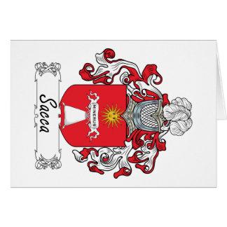 Escudo de la familia de Sacca Felicitación