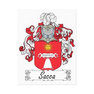 Escudo de la familia de Sacca Impresión En Lona