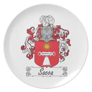 Escudo de la familia de Sacca Platos De Comidas