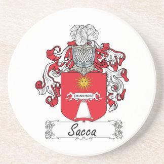 Escudo de la familia de Sacca Posavasos Personalizados