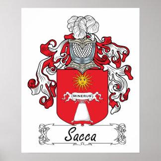 Escudo de la familia de Sacca Posters