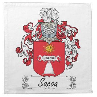 Escudo de la familia de Sacca Servilleta De Papel