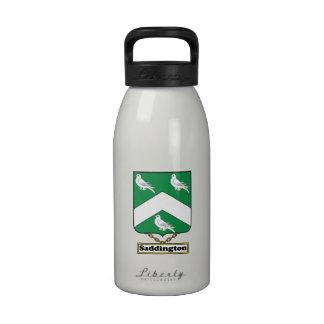 Escudo de la familia de Saddington Botella De Agua
