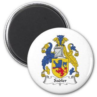 Escudo de la familia de Sadler Imán Redondo 5 Cm