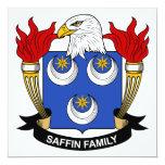 Escudo de la familia de Saffin Invitación 13,3 Cm X 13,3cm