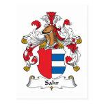 Escudo de la familia de Sahr Tarjeta Postal