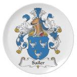 Escudo de la familia de Sailer Plato De Comida