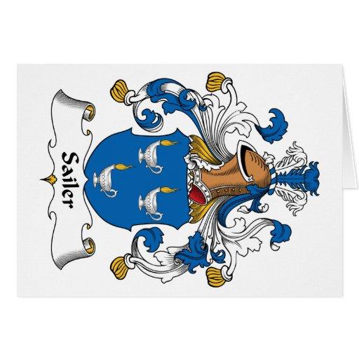 Escudo de la familia de Sailer Tarjetas