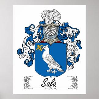 Escudo de la familia de Sala Poster