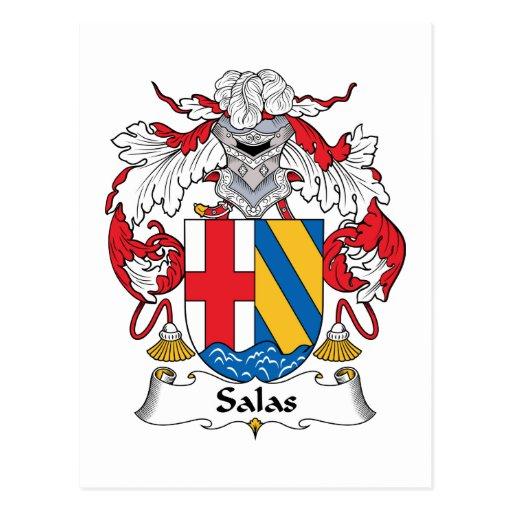 Escudo de la familia de Salas Postal