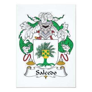 """Escudo de la familia de Salcedo Invitación 5"""" X 7"""""""