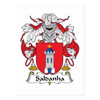 Escudo de la familia de Saldanha Postales