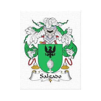 Escudo de la familia de Salgado Impresión En Lienzo