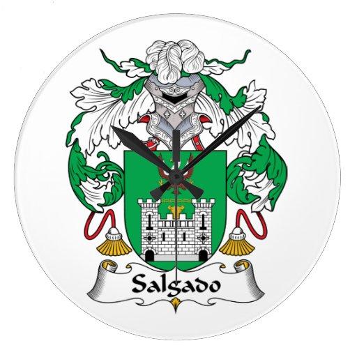 Escudo de la familia de Salgado Reloj Redondo Grande