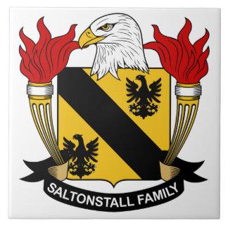 Escudo de la familia de Saltonstall Azulejo Cuadrado Grande