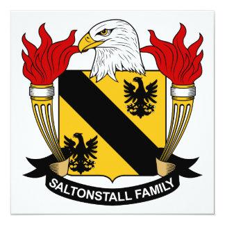 """Escudo de la familia de Saltonstall Invitación 5.25"""" X 5.25"""""""