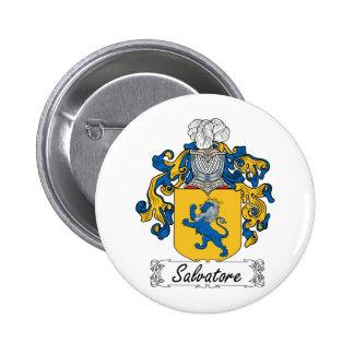 Escudo de la familia de Salvador Pin Redondo De 2 Pulgadas