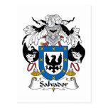 Escudo de la familia de Salvador Tarjeta Postal